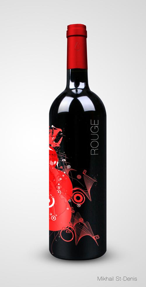 Mikhail St-Denis wine label design
