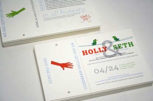 custom save the date postcard perforation