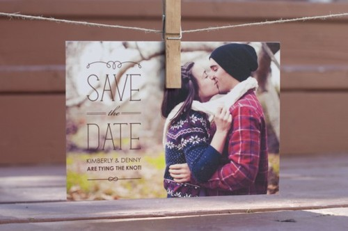 Photo save the date wedding postcard