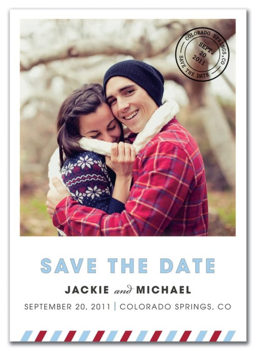 save the date postcard designs - Airmail VIbe