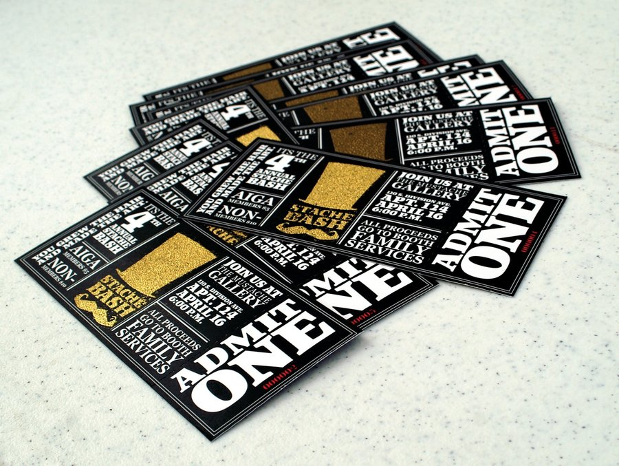 Excellent Ticket Design Samples Uprinting