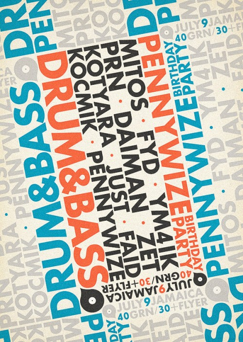 Printcall Blog: Cool Typographic Flyer Design Inspiration