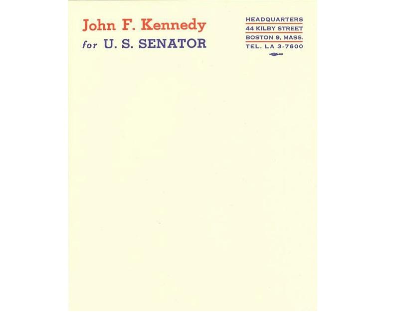 Personal letterheads - JFK
