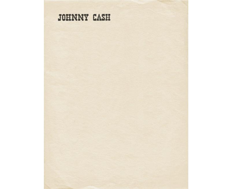 Personal Letterhead - Johnny Cash
