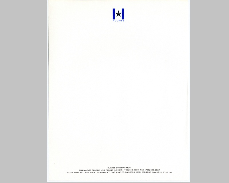 Personal Letterhead - John Hughes