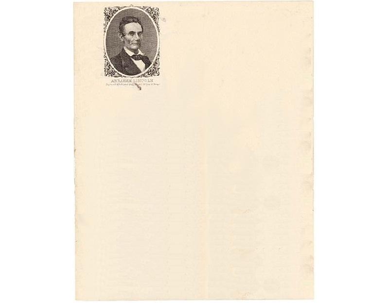Personal Letterhead - Abraham Lincoln
