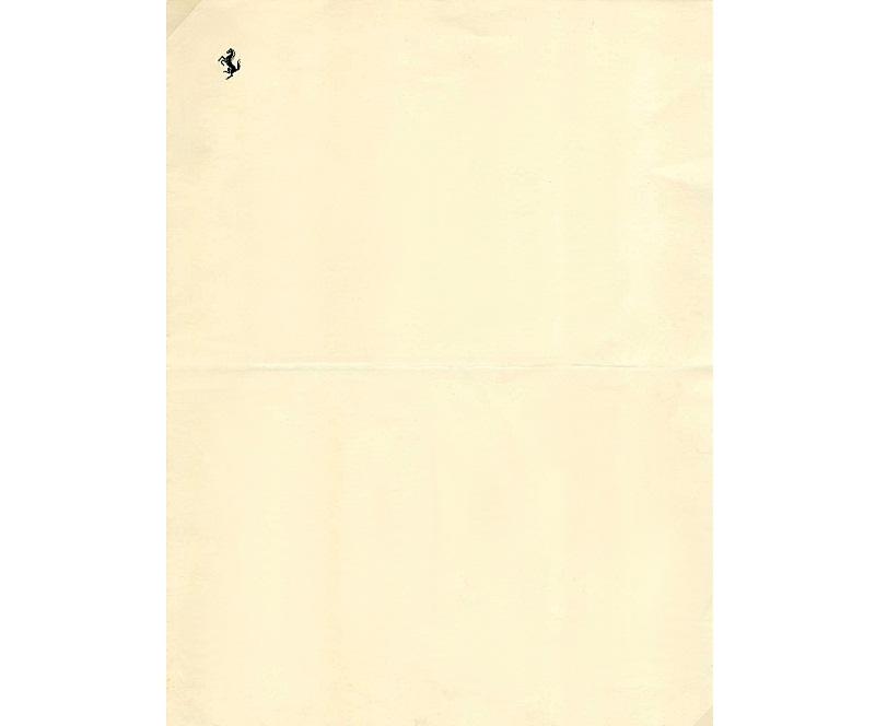Personal Letterhead - Enzo Ferrari