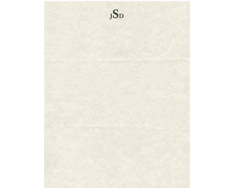 Personal Letterhead - J.D. Salinger
