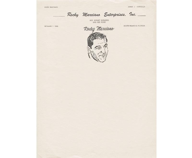 Personal Letterhead - Rocky Marciano