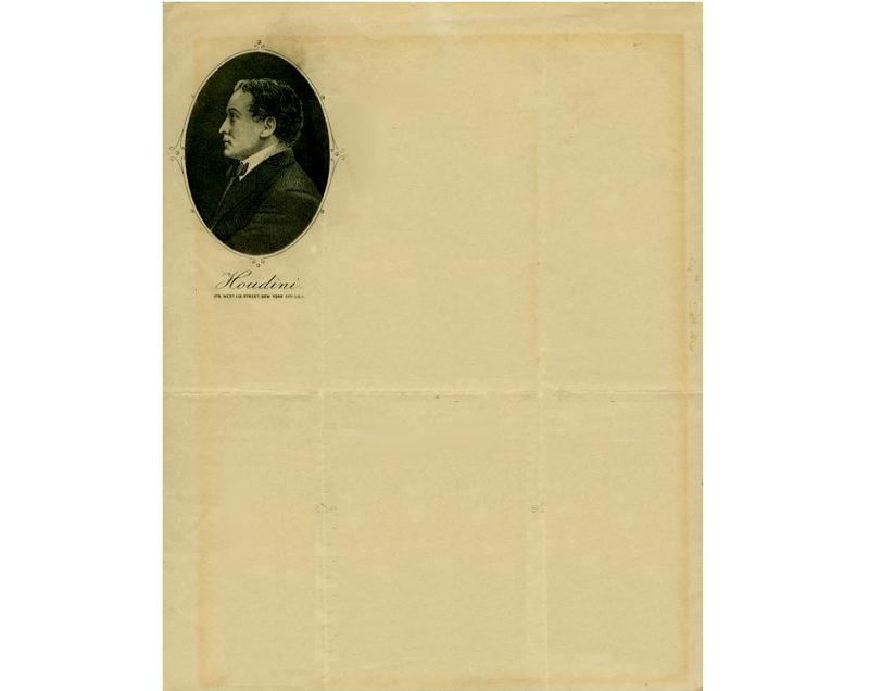 Personal Letterhead - Harry Houdini
