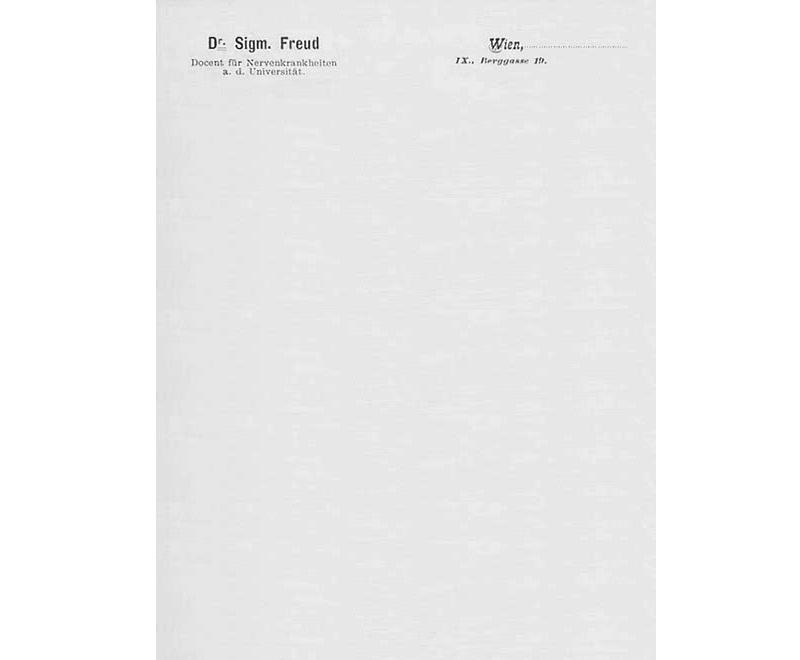 Personal Letterhead - Sigmund Freud