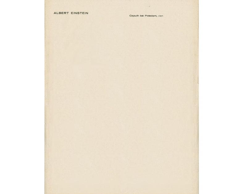 Personal Letterhead - Albert Einstein
