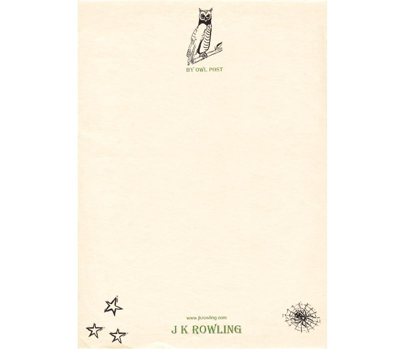 Personal Letterhead - J.K. Rowling
