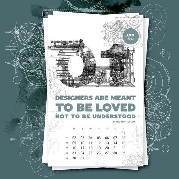 Calendar Design Inspiration : Creative calendar designs for your inspiration