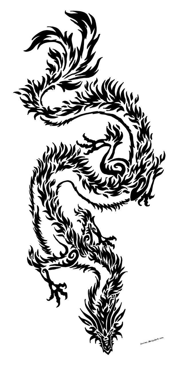 Sticker design in bike - Tribal Dragon 01