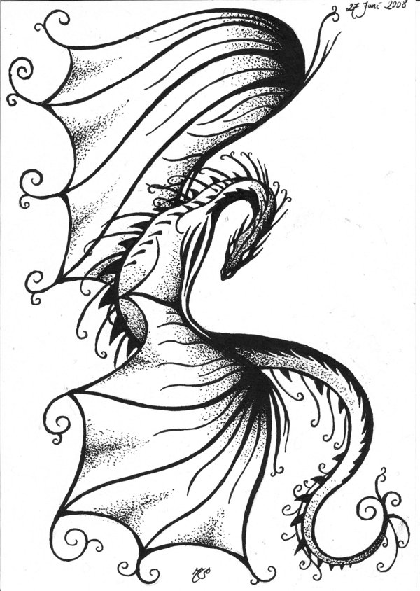 540b57afd 37 Tribal Dragons for Sticker Design Inspiration | UPrinting