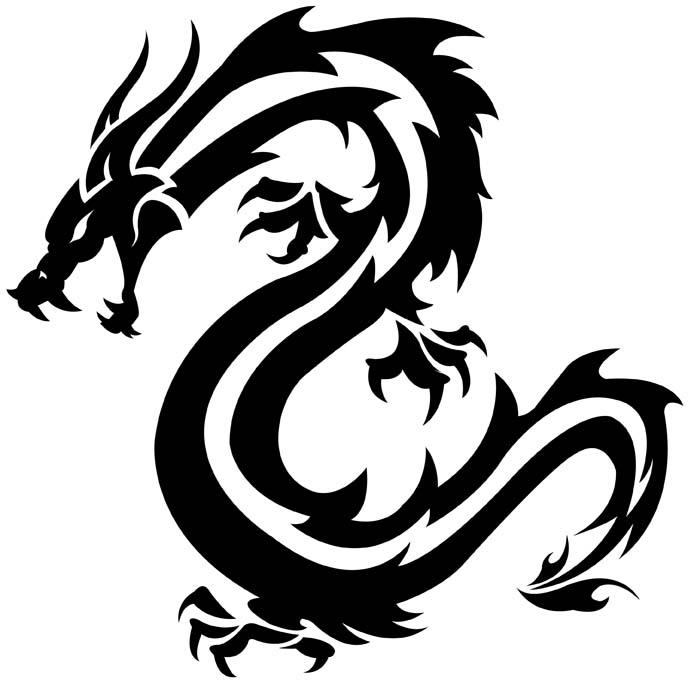 37 Tribal Dragons for Sticker Design InspirationTribal Dragon Head Designs