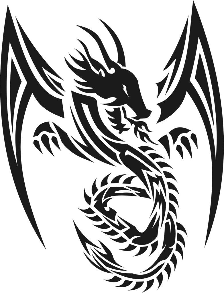 Sticker design in bike - Tribal Dragon 09
