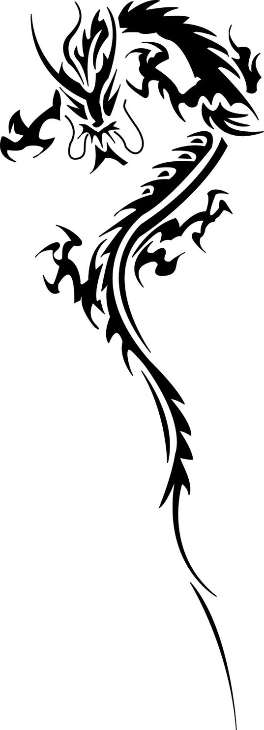 Sticker design in bike - Tribal Dragon 10