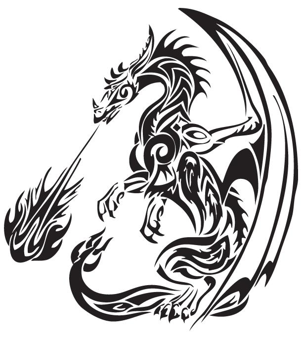 Tribal Dragon 24