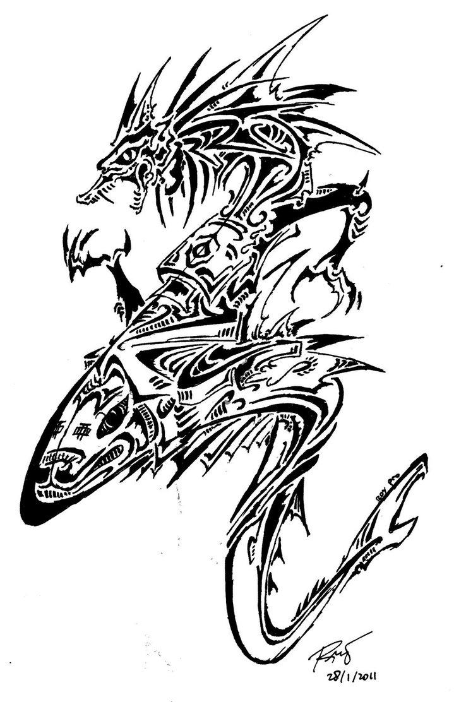 Cool Tribal Dragon