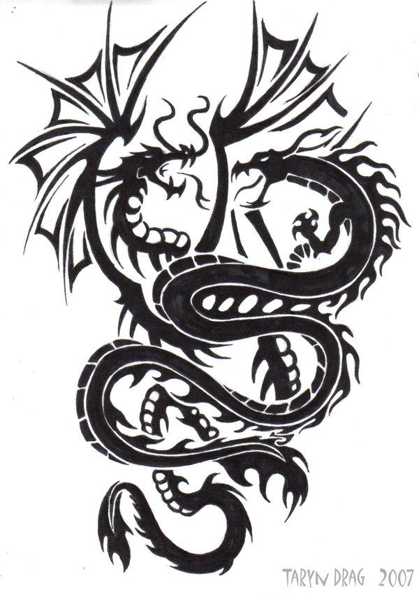 37 Tribal Dragons For Sticker Design Inspiration Uprinting