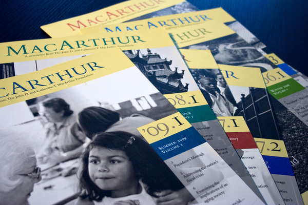 The MacArthur Foundation Newsletter Cover