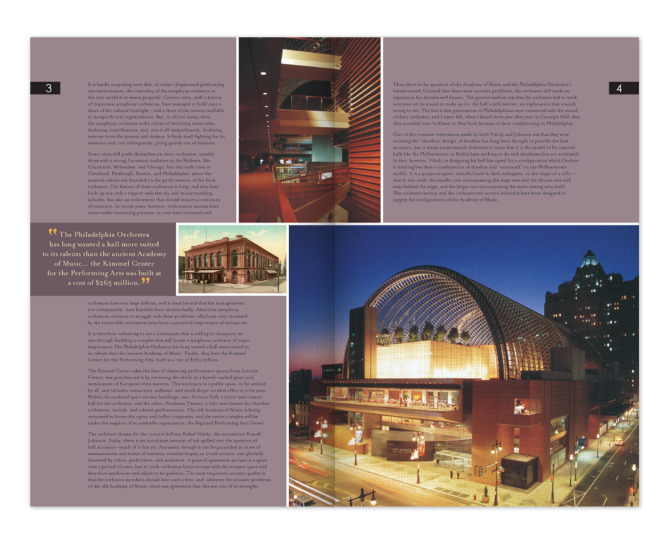 Viñoly: Kimmel Center Newsletter - Inside Pages 02