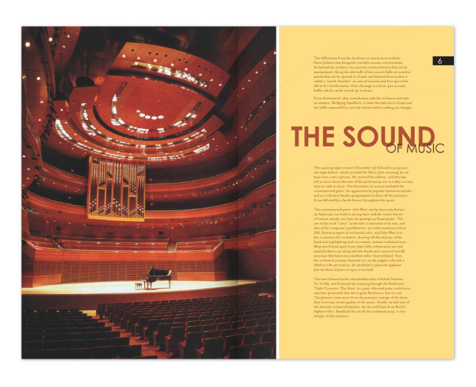 Viñoly: Kimmel Center Newsletter Inside Pages 03