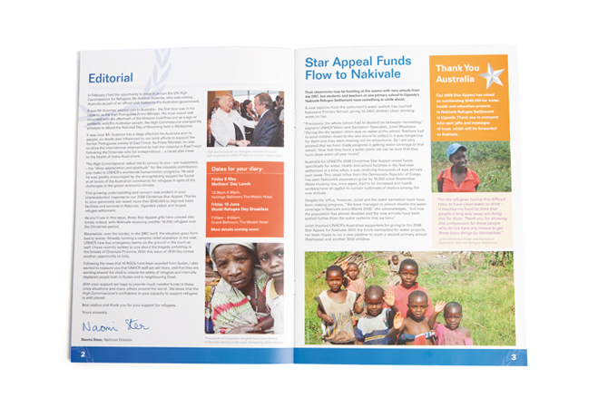 "UNHCR ""With You"" Newsletter - Inside pages 02"