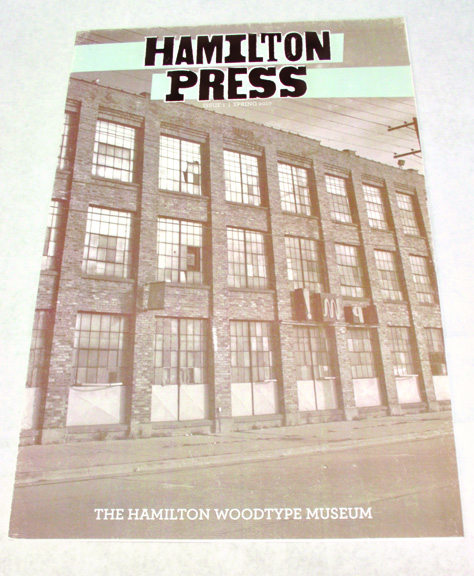 Hamilton Press Newsletter Cover