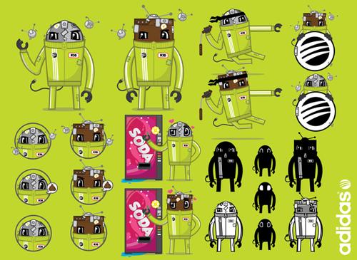 promotional stickers 03 - adidas neo branding