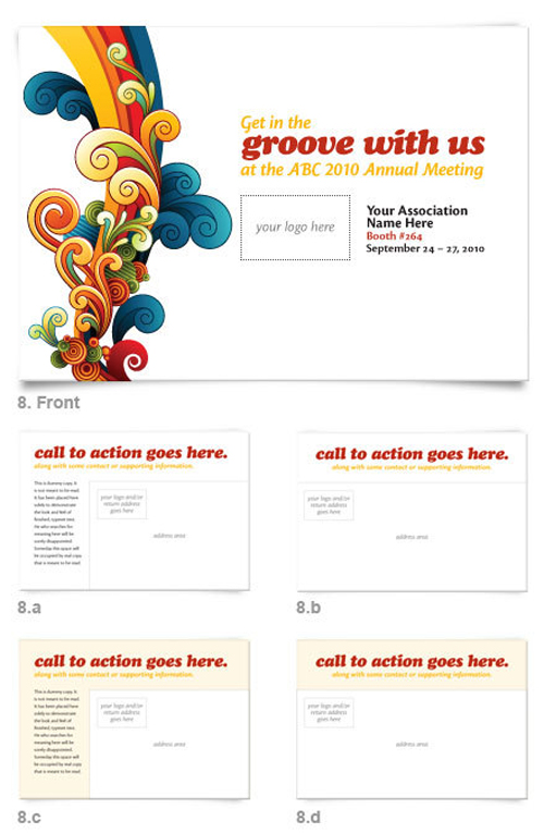 business postcard ideas 10 - exhibitor express branding postcard design
