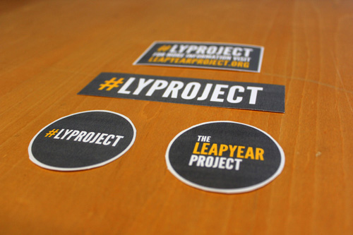 promotional stickers 01 - leap year project