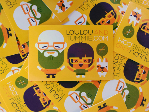 business postcard ideas 02 - loulou & tummie identity