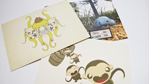 business postcard ideas 03 - tinytwiggette personal brand identity