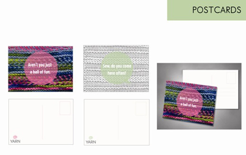 business postcard ideas 12 - yarn corporate identity