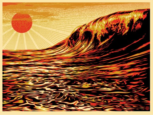japan earthquake posters 02 - shepard fairey