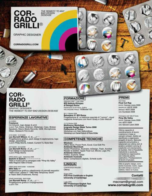 creative resume sles graphic design buy original