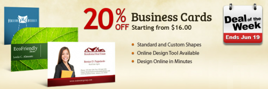 Deal Of The Week Promo - 20% Discounts on Business Cards