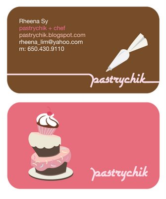Bakery business cards 20 examples of pastry shop business cards if reheart Gallery