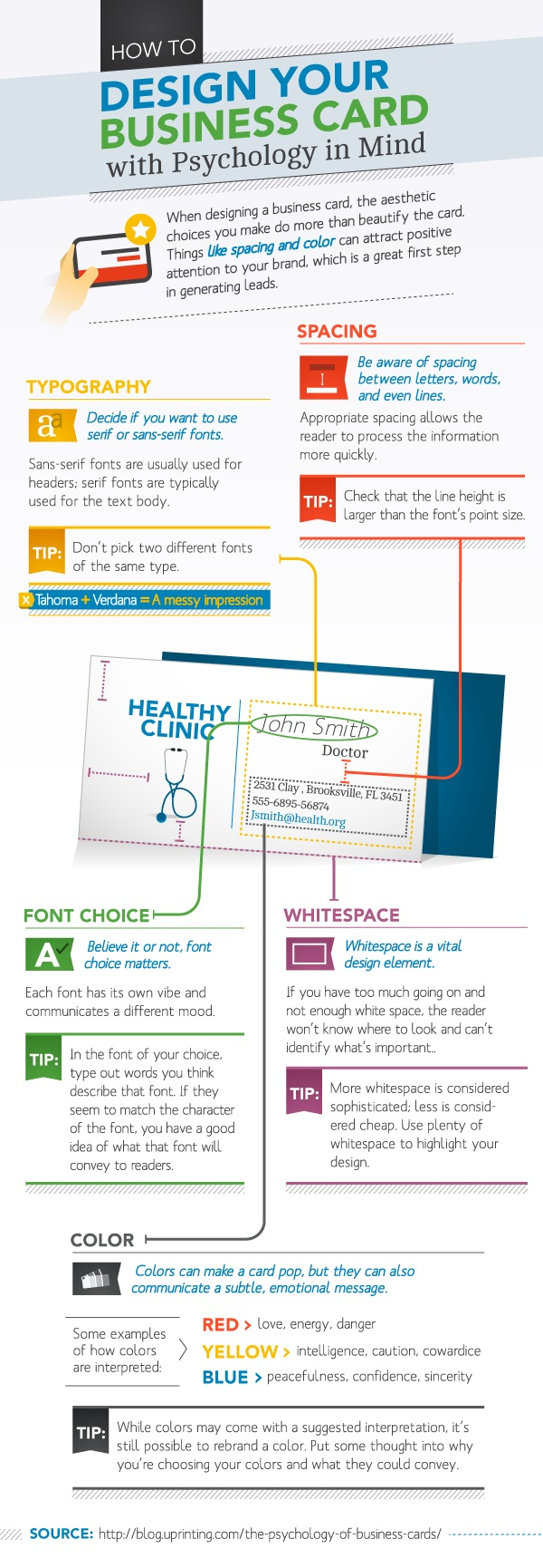 how to design a good business card
