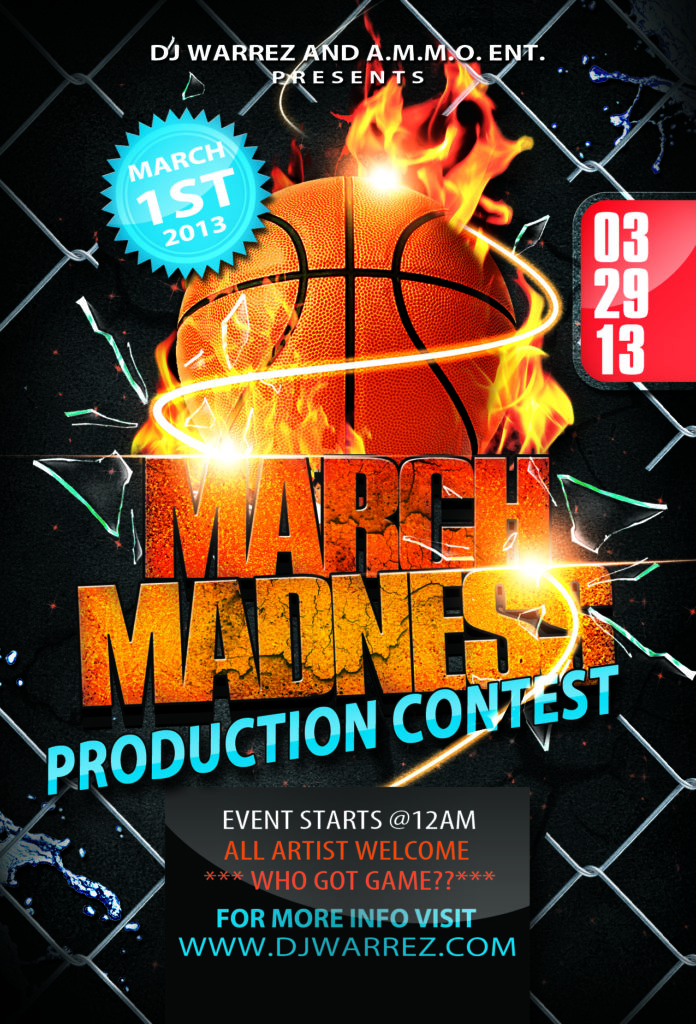 getting ready for march madness  promotional flyer samples