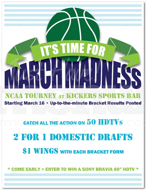 Getting Ready For March Madness Promotional Flyer Samples – Flyer Samples