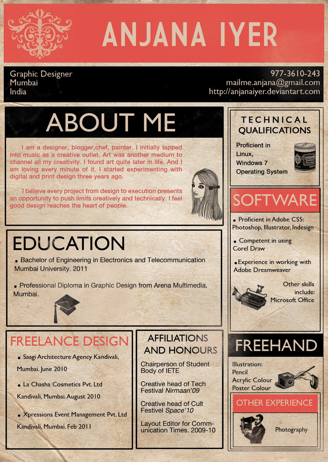 The 4 Cardinal Rules of Infographic Résumés Practical Real World Advice For Creative Jobhunters