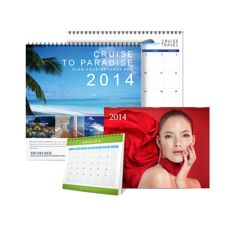 Get a Head Start on 2014 Promotions With UPrinting's Calendars - Wall Calendar