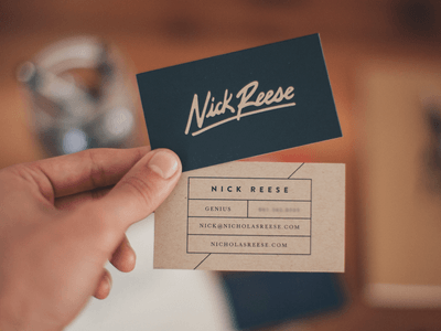 38 pro designers reveal their top business card design tips eugene woronyuk2 reheart Gallery