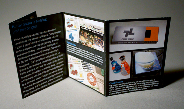 Brochure resume 3