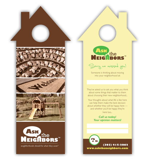 Awesome Since Location Is Everything In The Real Estate Business, Putting These  Personalized Door Hangers Right At Your Target Customersu0027 Door Steps Is A  Good Start ...