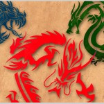 37 Tribal Dragons for Sticker Design Inspiration